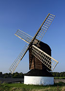 Image:  Pitstone Mill. nr Aylesbury, Bucks, built in 1627 (the oldest surviving post mill in the UK)